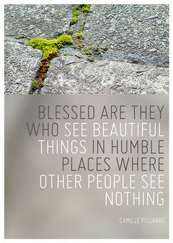 Blessed are they who see beautiful thing sin humble places where other people see nothing