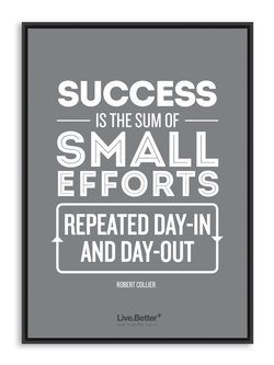 Success is the sum of small efforts repeated daily. Motivational quotes on health, fitness & exercise to inspire you to get healthy and fit! #quotes #health #fitness #exercise